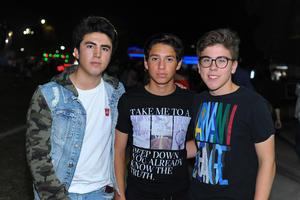 Max, Manolo y Marcelo.