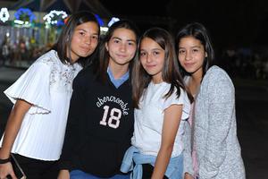 Valeria, Pamela, Sofi y Marisofi.
