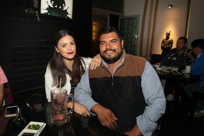 Karen Palomino y David Córdoba.