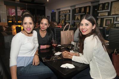 Sayra García, Pamela García y Bibiana Sosa.