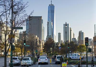 El acto se registró cerca del antiguo World Trade Center del 9-11.