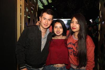 Michelle, Blanca y Gustavo.