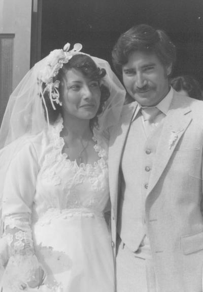29102017 María de Jesús Reyes y Vicente Berlanga Álvarez el día de su boda hace 37 años, el 20 de diciembre de 1980.