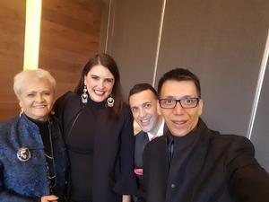 05112017 EN RECIENTE EVENTO.  Los artistas y diseñadores: Ofelia Murrieta, Gabriela Sánchez, Arturo Chávez y Pineda Damián.