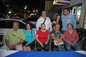 08112017 Nicolás, Gloria, Marcelo, Luis, Carolina, Gloria, María de Jesús e Irma.
