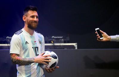 """""""Me gusta mucho: en nuevo diseño, los colores... Me gusta todo"""", dijo el argentino, capitán de su selección."""