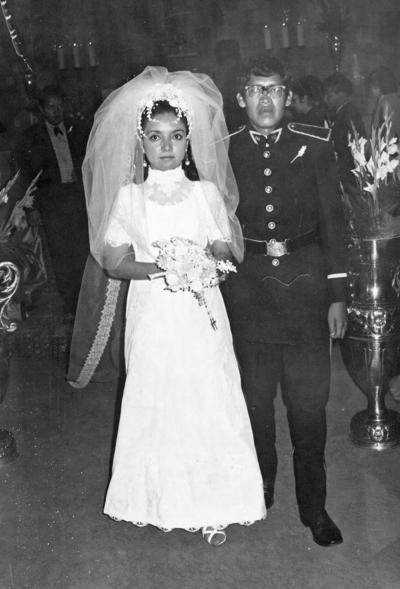 12112017 Amalia Emma Cedillo Rodríguez y José C. de la Cruz Serrano el día de su boda el 11 de noviembre de 1972.