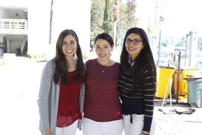 Karla García, Karyme Nájera y Sonia Hernández.