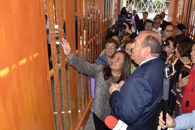 Estuvo presente Silvia Ortiz, vocera del grupo y madre de la desaparecida Estefanía Sánchez-Viesca Ortiz.