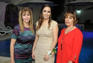 18112017 DESPEDIDA.  Jacqueline Dajlala con Silvia Aguirre y Margarita Flores.