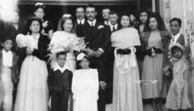 19112017 Leopoldo Reyes y Leonor García el día de su boda en 1949.