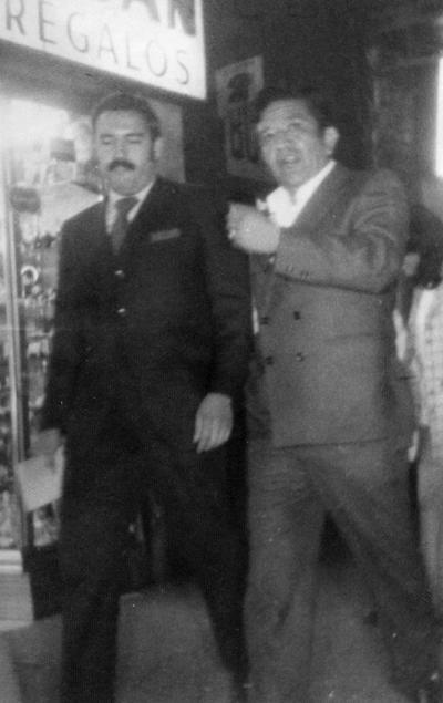 26112017 Lic. Jesús Reyes García y Antonio Muñoz Salazar durante una visita de trabajo a la capital de la República Mexicana en la década de los 60.