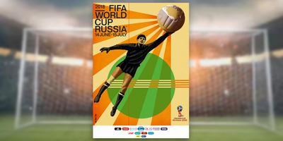 Este será el póster oficial de la justa mundialista del año próximo, mismo que se celebrará en Rusia.