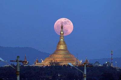 Así lució la lunes en Naipyidó, Myanmar.