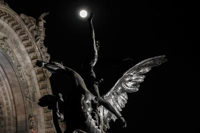 Así se vio desde el Palacio de Bellas Artes en la Ciudad de México.