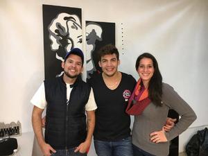 03122017 MUY CONTENTOS.  Rafael, Francisco y Mariana.
