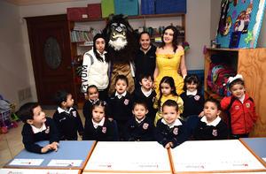 04122017 UN BELLO CUMPLEAñOS.  Aurora Aranda Máynez en su festejo por su cumpleaños número cuatro junto a sus compañeros del Colegio Cervantes.