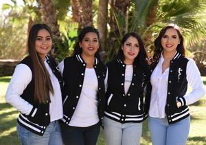 04122017 COMPAñERAS.  Adriana, Adahara, Nancy y Victoria.