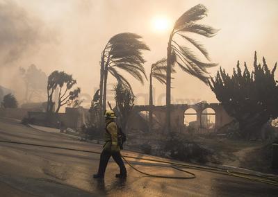 Los incendios no son comunes en diciembre.