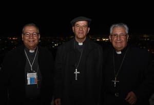 06122017 Juan Guillermo López, Obispo de Cuauhtémoc, Chihuahua; Constantino Miranda, Obispo de Chihuahua, y Marcelino Hernández, Obispo de Colima.