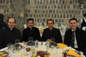 06122017 Padre Luis Felipe Rivero, Padre Sadrac Hernández, Padre José de la Cruz Chávez y Eduardo Pineda.