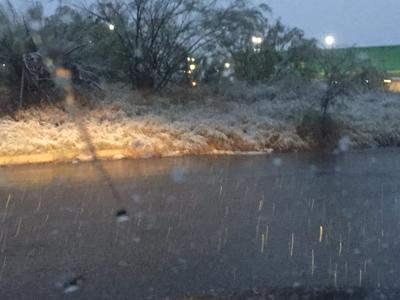 Tuiteros han compartido sus impresiones de la nevada.