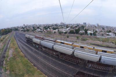 Vista del ferrocarril desde una de las góndolas.