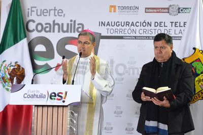 Luis Martín Barraza Beltrán realizó la bendición de la obra de turismo religioso.