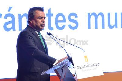 """El alcalde volvió a hacer referencia a los años de repunte de la violencia por el crimen organizado y dijo, """"que bueno que de aquel Torreón ya ni nos acordamos""""."""