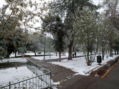 El blanco de la nieve.