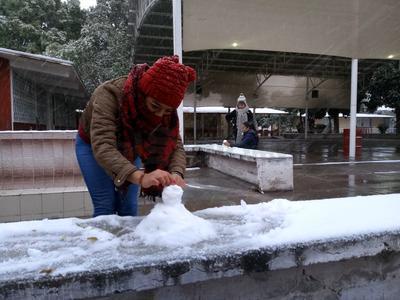 Ciudadanos disfrutaron de la nieve.