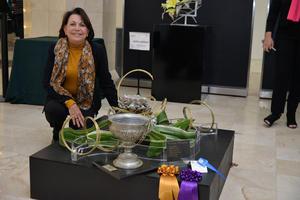 08122017 EVENTO DE JARDINERíA.  Pilar, participó en la Expo Anual de Horticultura y Diseño.