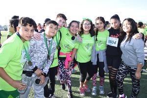 08122017 CARRERA ATLéTICA.  Diego, Ricardo, Andrés, Marisol, Celina, Abigail, Ángela y Andrea.