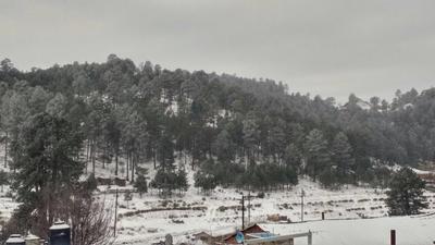 Durante esta mañana se registró una temperatura de -12.0 grados centígrados en La Rosilla, Guanaceví, aunque transcurridas pocas horas descendió a -15.0 grados.