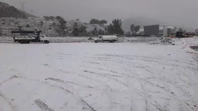 En la ciudad de Torreón se hizo presente el fenómeno meteorológico.