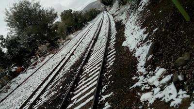 En la ciudad de Torreón, ciudadanos aprovecharon la nieve para tomar bellas fotografías.