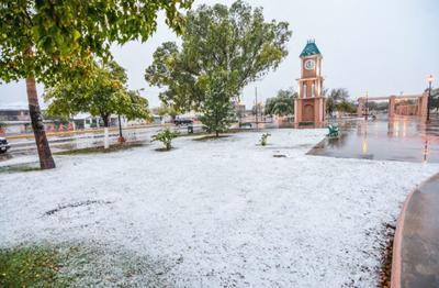 La ciudad de la región Norte del estado, Piedras Negras, quedó cubierta bajo la nieve.