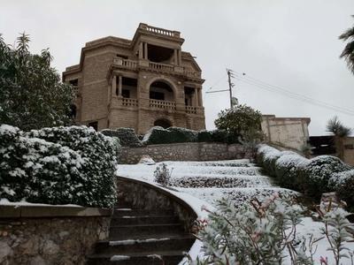 La casa del Cerro, en Torreón, quedó 'marcada' de blanco para una memorable postal.