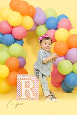 10122017 Regina Idalid Murillo Muñoz celebrando su primer año de vida. - Benjamín Estudio