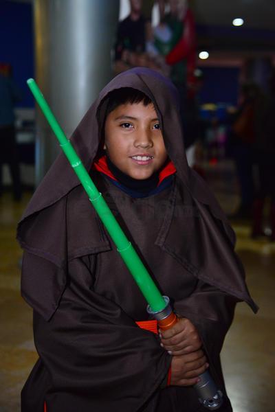 Los pequeños mostraron su fanatismo por Star Wars.