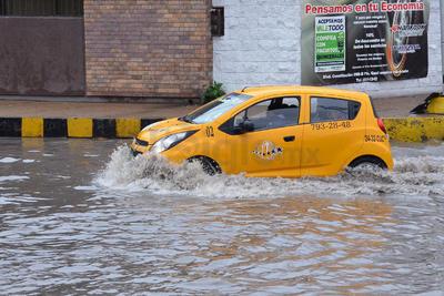 Aunque fueron mayormente ligeras, las lluvias sí causaron algunas afectaciones.