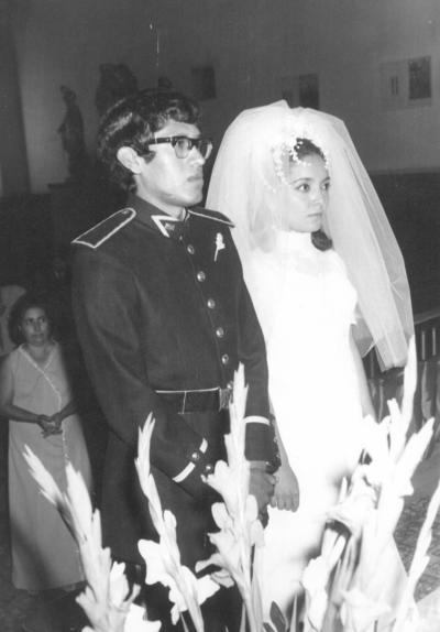 17122017 José C. de la Cruz Serrano y Amalia Emma Cedillo Rodríguez el día de su boda, hace 45 años.