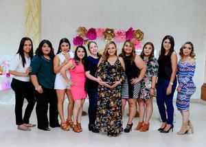 18122017 BABY SHOWER.  Karla Ivonne Martínez Arámbula acompañada de sus amigas en la fiesta de canastilla que se le organizó con motivo del nacimiento de Ana Lucía.