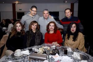 19122017 Roberto, Macario, Fernando, Nidia, Nancy, Ivonne y Rosy.