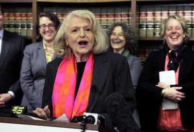12 de septiembre.  Edith Windsor | Activista estadounidense de los derechos LGBT, murió a los 88 años de edad.