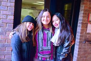 21122017 COMPAñERAS.  Anilú, Karen y Luisa.