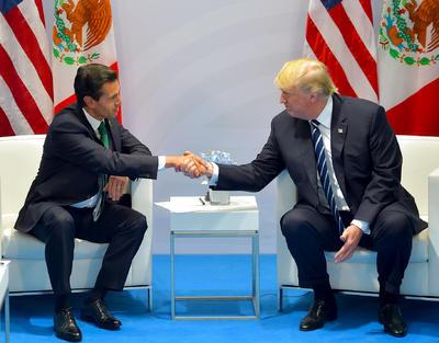 07 de julio. Reunión | En la reunión del G-20 en Hamburgo, Alemania, el presidente Peña Nieto se reúne por primera vez desde su investidura con su homólogo de Estados Unidos Donald Trump.