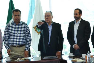 03 de marzo. Protesta | El alcalde Jorge Luis Morán tomó protesta al Consejo de Seguridad Pública de Torreón.