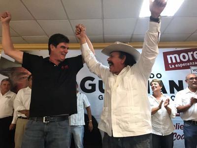 26 de mayo. Decline | José Ángel Pérez Hernández, candidato a la gubernatura de Coahuila por el Partido del Trabajo (PT), declinó en favor de Armando Guadiana Tijerina, candidato del Movimiento de Regeneración Nacional (Morena).