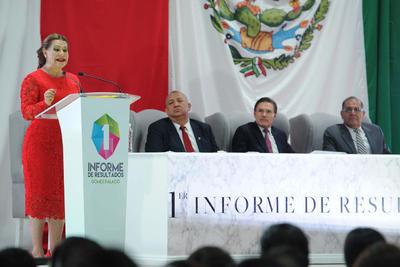 23 de agosto. Informe | La alcaldesa de Gómez Palacio, Leticia Herrera, rindió el informe de actividades del primer año de la administración 2016-2019.